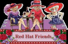 Red+Hat+Clip+Art | THE RED HAT SOCIETY CHAPTER 77481 Red Hat Club, Hat Quotes, Old Lady Humor, Red Hat Ladies, Wearing Purple, Red Hat Society, Red Jewel, Red Hats, Old Women