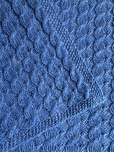 Ravelry: Scarlett's Reversible Cable Baby Blanket pattern by Suzanne Bryan