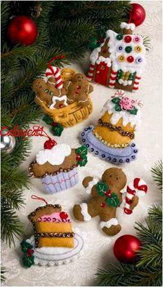 Santa's Sweet Shop Bucilla Felt Ornament Kit #86187 - FTH Studio International
