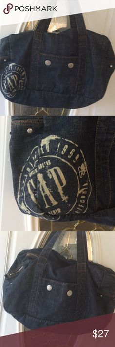 """Denim GAP Duffel Bag In perfect condition.  Used to store clothes.  19""""x13""""x6"""" GAP Bags Satchels"""