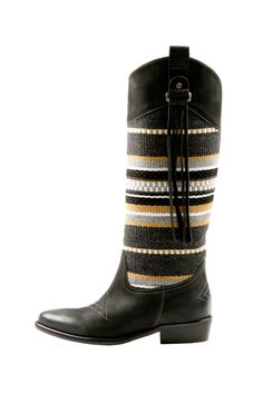 Textile and Leather Boot