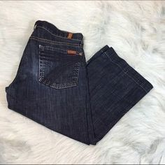 I just added this to my closet on Poshmark: 7 For All Mankind Crop Dojo Jeans. Price: $24 Size: 28