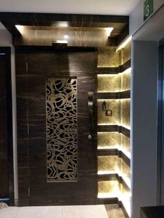 Discover recipes, home ideas, style inspiration and other ideas to try. Modern Entrance Door, Main Entrance Door Design, Home Entrance Decor, Entrance Doors, House Main Door Design, Room Door Design, Door Design Interior, Wall Design, Ceiling Design Living Room