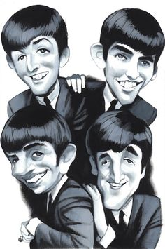 The Beatles - CARICATURE: http://dunway.com/                                                                                                                                                     Más