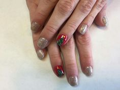 red matte chrome tip gel nails. | Nails Peachy Nail Spot Fort ...