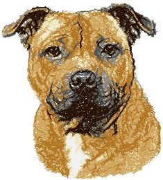 Advanced Embroidery Designs - Staffordshire Bull Terrier