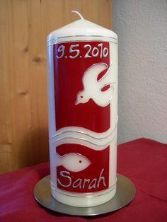 Taufkerzen - Taufkerze Sarah - ein Designerstück von raupenwerk bei DaWanda