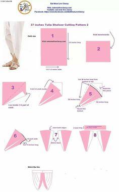 Dhoti Pattern Cutting, Pattern Making, Patiala Pants, Tulip Pants, Salwar Pattern, Pants Tutorial, Baby Girl Patterns, Designs For Dresses, Pattern Drafting