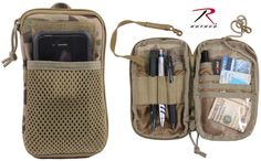 MultiCam Tactical All-Purpose Wallet - Rothco Camouflage MOLLE Wallet Organizer