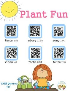FREEBIE!!!  K - 3rd Check out this freebie to see how our QR Code products work. Your students will have so much fun learning! Plant Fun with QR Codes by QR QUEENS
