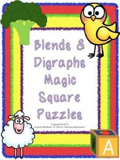 Blends Digraphs Magic Square Puzzles {$}