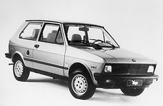 1985 Yugo. Imported by serial entrepreneur Malcolm Bricklin, this s__-box sold for $3990. It was a mild reworking of the obsolete Fiat 128. Yugos soon became a joke, they broke in every way imaginable, and despite it all they would have remained on the market had war not broken out in Yugoslavia, sadly necessitating the factory converting to munitions production. In the early '00s, Bricklin was at it again, trying to import thinly disguised Yugos under the Zastava Motor Works badge.