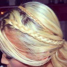 #ShareIG @kristineeinang's Instagram Photo | Long blonde hair with interwoven braids.