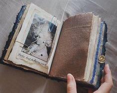 art journal, junk journal, best gift for artist Paper Journal, Junk Journal, Birthday Gifts For Boyfriend, Boyfriend Gifts, Journal Inspiration, Journal Ideas, Cool Notebooks, Collage Art Mixed Media, Gifts For An Artist