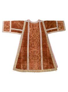 18th Century Italian Stamped Silk Velvet Dalmatic Vestment