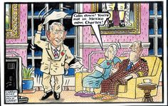 2014-11-07  express Celebrity Caricatures, Daily Express, British Royals, Royalty, Queen, Cartoon, Funny, Pink, Royals