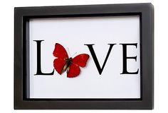 Red Butterfly Love on OneKingsLane.com