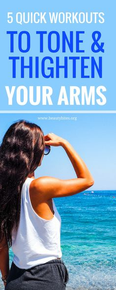 Get rid of arm flab and tone your arms with these quick arm workouts for women that you can do at home, or wherever you want. You need between minutes and little to no equipment. For fast results, do these workouts times a week. Arm Workout Videos, Arm Workout For Beginners, Arm Workouts At Home, Workout Videos For Women, Workout Plan For Women, Toning Workouts, Quick Workouts, Arm Exercises, Sixpack Abs Workout