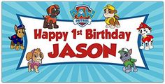 Paw Patrol Birthday Banner Personalized Party Backdrop Decoration >>> Visit the image link more details. (Amazon affiliate link)