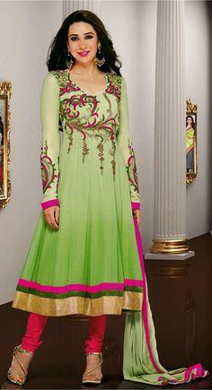 Adorable Parrot Green Salwar Kameez