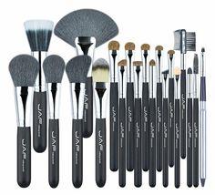 JAF Studio 20 Pcs/Set Makup Brushes Premium Natural