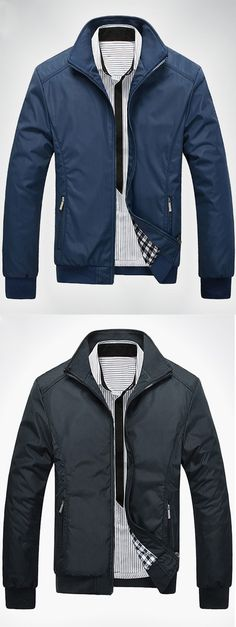 Jackets are a vital component to every single man's set of clothing. Men have to have jackets for several circumstances and several weather conditions Revival Clothing, Casual Outfits, Men Casual, Men's Wardrobe, Clothing Company, Zip Ups, Sportswear, Bomber Jacket, Menswear
