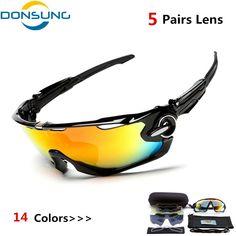 101ccdf32c Polarized 5 Lens Cycling Eyewear MTB Bicycle Sun Glasses Cycling Sunglasses  Mountain Bike Goggles Gafas de Ciclismo Myopia frame Review