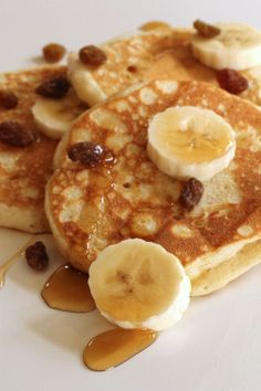 Pancakes with raisins for Pancake Tuesday - yea!!  Yummy!