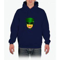 Tongue emoji leprechaun Hoodie
