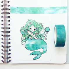 Ideas for drawing poses girl kawaii Beautiful Drawings, Cute Drawings, Photo Manga, Doodle Drawing, Desu Desu, Arte Sketchbook, Baby Mermaid, Anime Mermaid, Mermaid Art