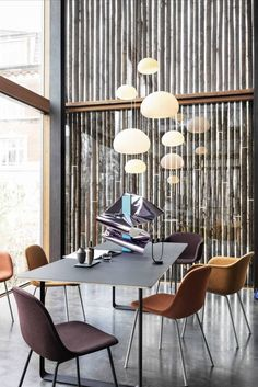 Its soft gentle glow lights the way in any setting and is available in small or large sizes for use singly or doubling up. #AplusR #moderndesign #interiordesign #overheadlighting #modernlighting #diningroomideas #entrywaylighting #officelighting