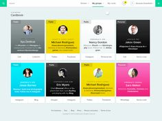 Cardsaround Profile Cards iOS App Animation   Motion Graphics in User Interface Design
