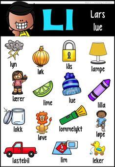 Slide14 Danish Language, Barn Crafts, Norway Language, Hobbies For Kids, Worksheets For Kids, Kids House, In Kindergarten, First Grade, Toddler Activities