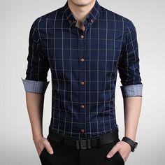 Gender: Men Item Type: Shirts Material: Cotton Sleeve Length: Full size Cross Shoulder(cm) Chest Width(cm) Body Length(cm) Sleeve Length(cm) M 42 98 69 60 L 43 102 71 61 XL 45 106 73 62 XXL 46 110 75