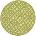 Newport Olive/Ivory (Green/Ivory) 4 ft. x 4 ft. Round Area Rug