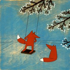Illus. swinging foxes