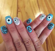 Hamsa nails!! Love it!!!