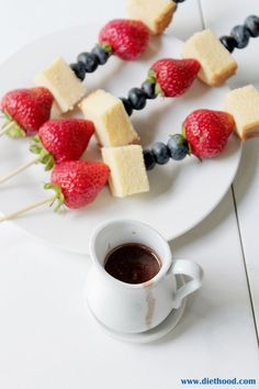 Boozy Chocolate Dipping Sauce   www.diethood.com   Red, white, and blue fruit…
