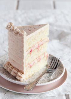 Rhubarb Ginger Layer Cake