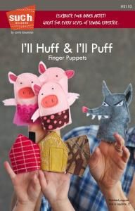 purl soho | products | item | i'll huff & i'll puff finger puppet pattern (such designs)