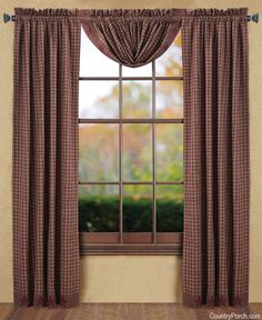 Burgundy Lique Star Balloon Curtain Valance