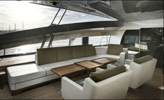 interior yacht design   ... Superyacht Has A Sophisticated Interior Designed by…