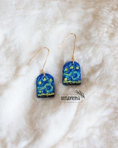 Polymer Clay Art, Polymer Clay Earrings, South African Artists, Vincent Van Gogh, Jewelry Trends, Fimo