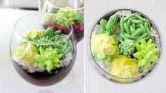 Chocolate Pudding Terrariums + Buttercream Succulents | RECIPE