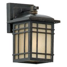 Quoizel HC8406IB Hillcrest 9-Inch Small Wall Lantern with Opaque Linen Glass Panels, Imperial Bronze Finish by Quoizel. $101.19. From the Manufacturer                A design made for classic Arts & Crafts style homes, but looks great on contemporary or modern homes as well. The opaque linen glass softens the light, reducing glare and hot spots.                                    Product Description                Light Bulb:(1)100w A19 Med F Incand, Finish:Imperial Bronze A d...