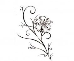 Like a real lily flower tattoo wallpaper