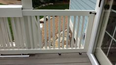 Sliding Gate for deck, materials from Lowe's