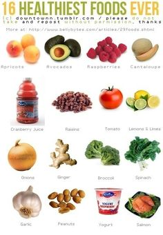 16 health foods......although juice isn't healthy