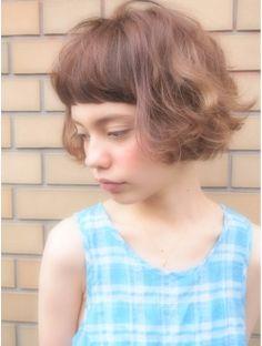 ナヌーク シブヤ(nanuk shibuya)フレンチボブ◇ガーリースタイル◇アッシュベージュで透明感◇◇