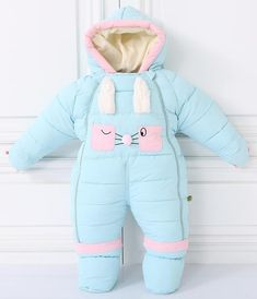 One-pieces Original Baby Cre Hooded Romper Fleece Snowsuit Footed Pramsuit Jumpsuit 3-6 Months Rich And Magnificent